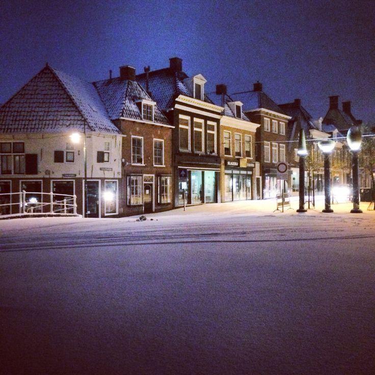 Snow netherlands / friesland / dokkum