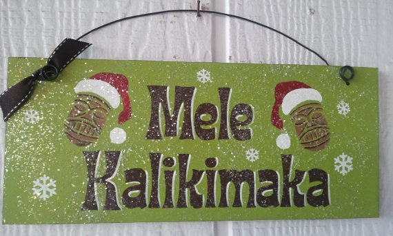 """Love!! """"Mele Kalikimaka is what Hawaiian's say...on a bright, Hawaiian Christmas Day..."""" Thank You @Jamie Keen at Dollar Plus for me knowing this song!!"""