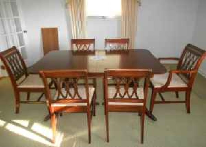 Duncan Phyfe Dining Room Chairs | Duncan Phyfe Dining Table And 6 Chairs    $500 (