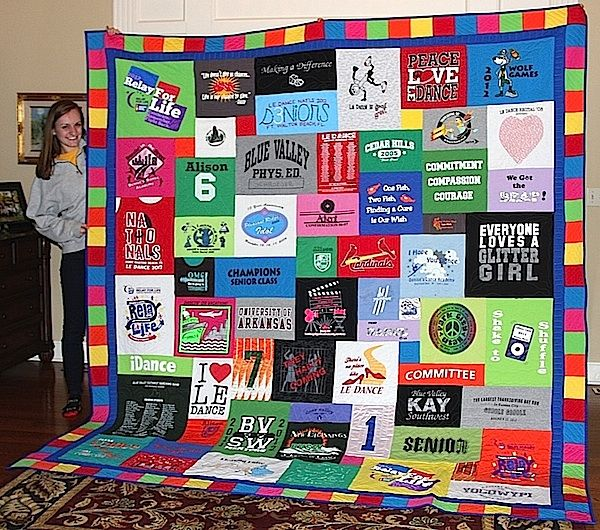 128 best Too Cool T-shirt Quilts images on Pinterest | Colleges ... : memorial quilt makers - Adamdwight.com