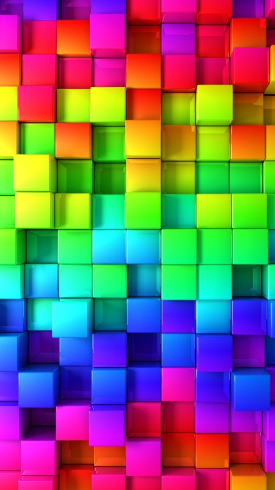 Rainbow cubes ... That would be a pretty and bright quilt. I must make it.