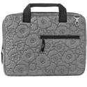 Laptop Case in Grey Quilted Poppy