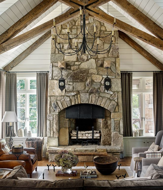 45 Best Fireplace Ideas With Unique Design Stone Fireplace