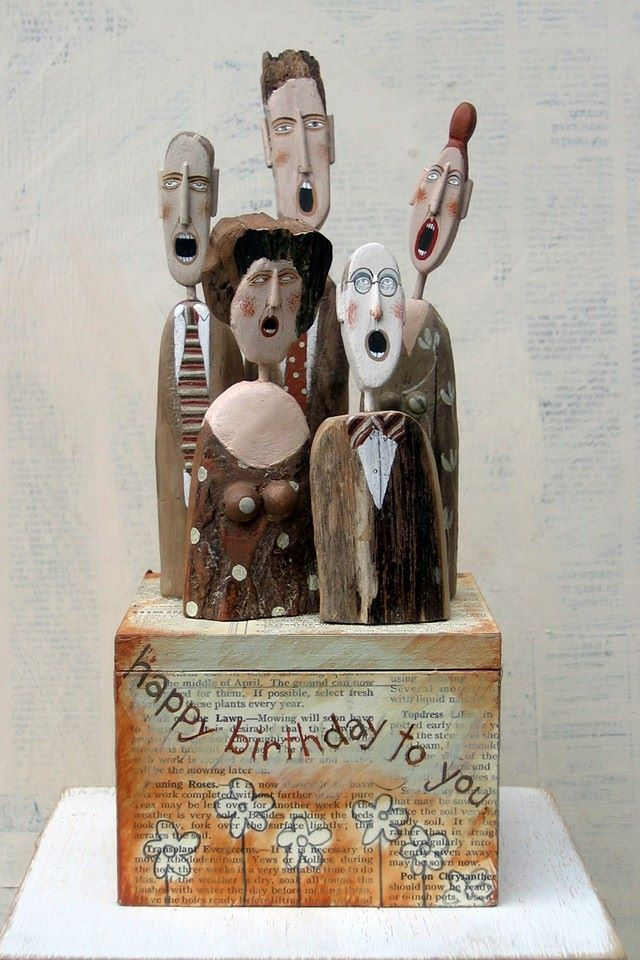 Happy B-day figures by Lynn Muir