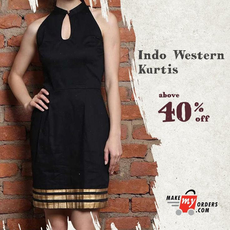 A new way to dress: Indo western kurtis.  Above 40% Discount at Makmeyorders.com. Shop Today - https://goo.gl/TFXmkd  #kurtis #indowesternkurtis #makemyorders