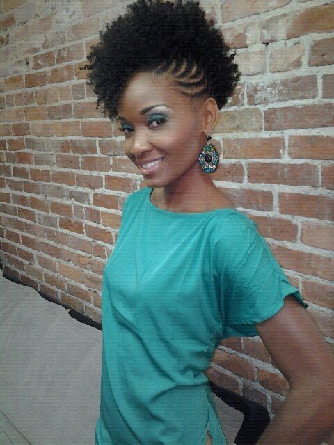 braided updo for natural hair. #naturalhair #naturalupdos