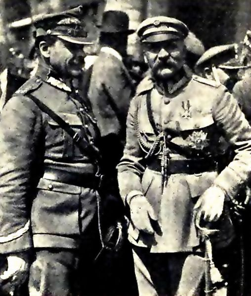 Plik:Józef Piłsudski and Józef Haller after victory in battle of Warsaw in 1920.png