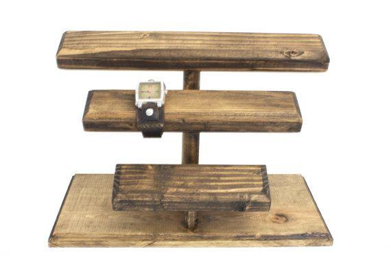 Wooden Jewelry Display, Wood Watch Display, Watch Stand, Watch Holder, Timepiece Display, Watch Storage, Watch Organizer