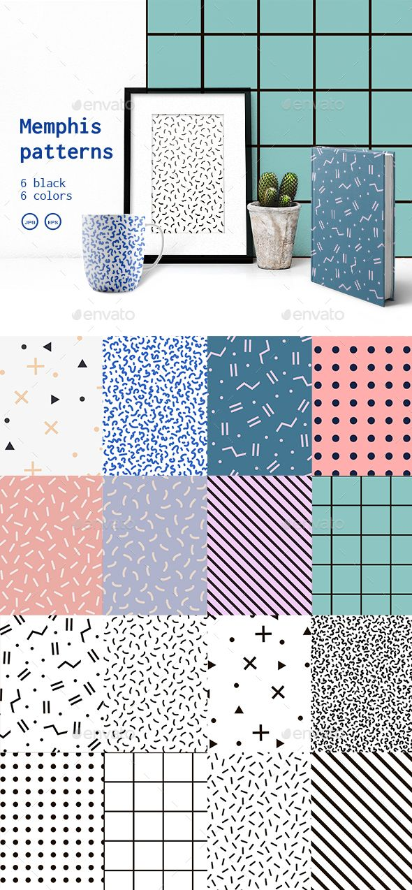 Black and White Set Memphis Patterns  #light #line • Click here to download ! http://graphicriver.net/item/black-and-white-set-memphis-patterns/15967613?ref=pxcr