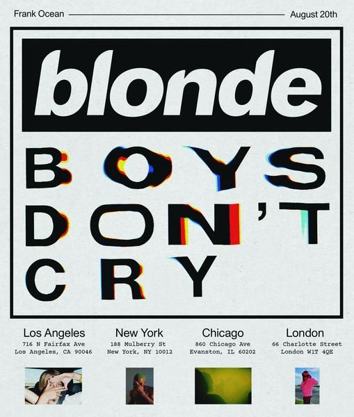 Frank Ocean Unveils Boys Don't Cry Magazine Featuring Kanye West, Lil B, More…