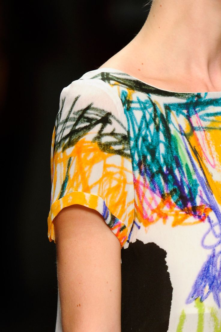 Textile Inspiration - Scribbles On Fabric - Oh I love