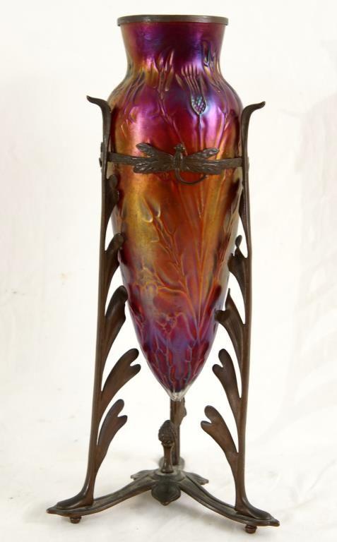 Loetz Glass Art Nouveau Iridescent Vase
