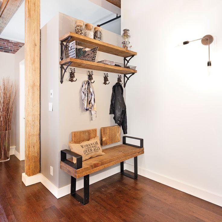 Simplicité rustique pour le hall d'entrée - Hall d'entrée - Inspirations - Décoration et rénovation - Pratico Pratique