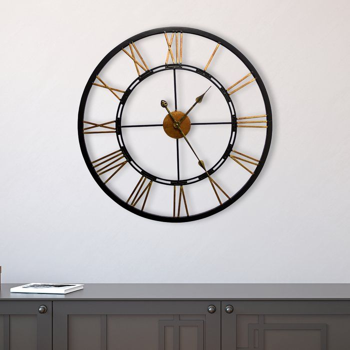 Oversized Geoghegan 26 77 Wall Clock Big Wall Clocks Wall Clock Black Wall Clock