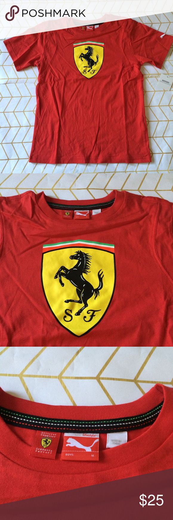 Sample Sale! Puma Ferrari Tee, M Ferrari and Puma Ferrari Designer Sample Sale! Please read: Tees are down to $25 (retail $45+), Polos/Sweatpants $35 (retail $70+), Jeans/Sweatshirts (retail $100+), and Jackets $65 (retail $150+), PLUS the 10% bundle discount! These items are heavily discounted by 60-85%, list/bundle prices are FIRM!  {These items are direct from the manufacturer and will have sample tags or no tag. They may have their size/brand printed on tag + not garment. Please check…
