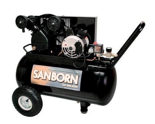 Sanborn 20 Gallon Horizontal Portable Air Compressor At