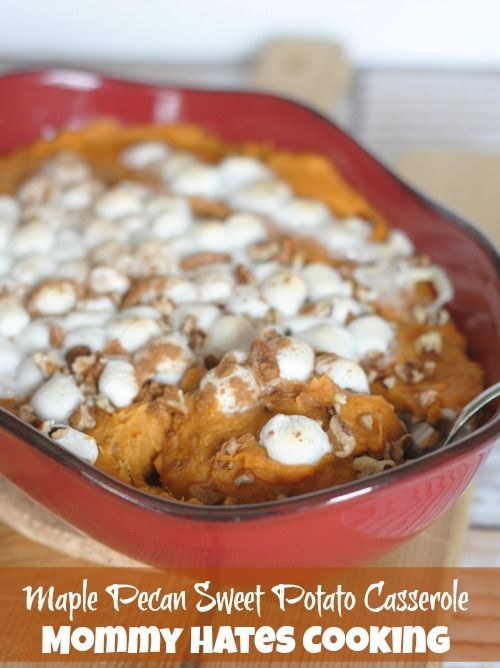maple pecan sweet potato casserole sweet potato dishes sweet potato ...