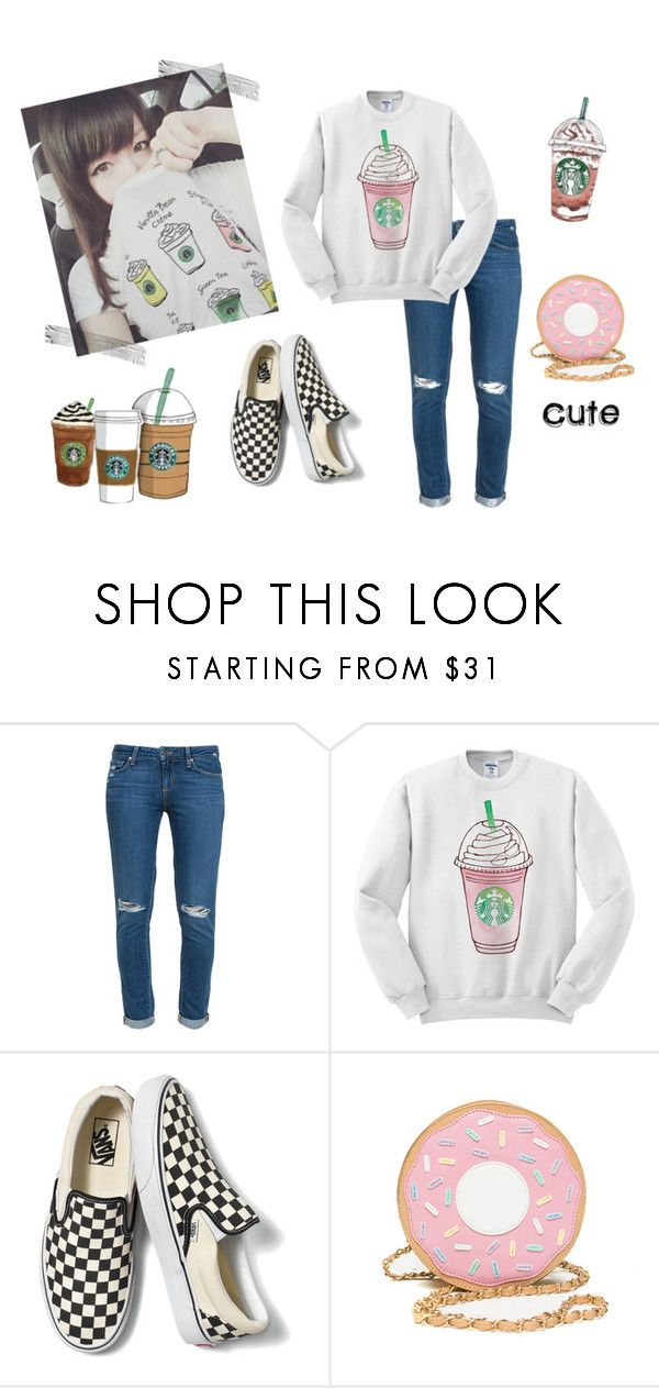 """""""Ulzzang #35"""" by bacon-coreano ❤ liked on Polyvore featuring Paige Denim, Vans and Cotton Candy"""