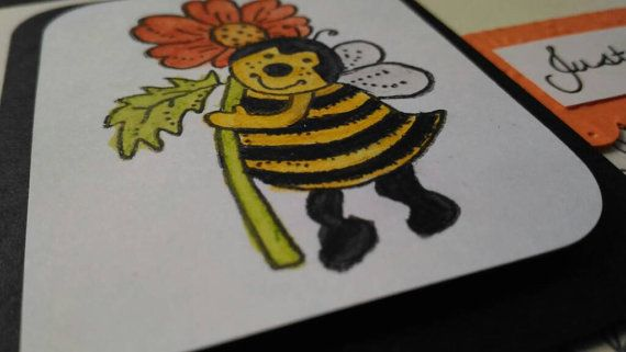 JUST BEE-CAUSE: the third design in my For the pun of it punny card collection. A fun card to say hello, happy birthday or thank you!  Measurements: