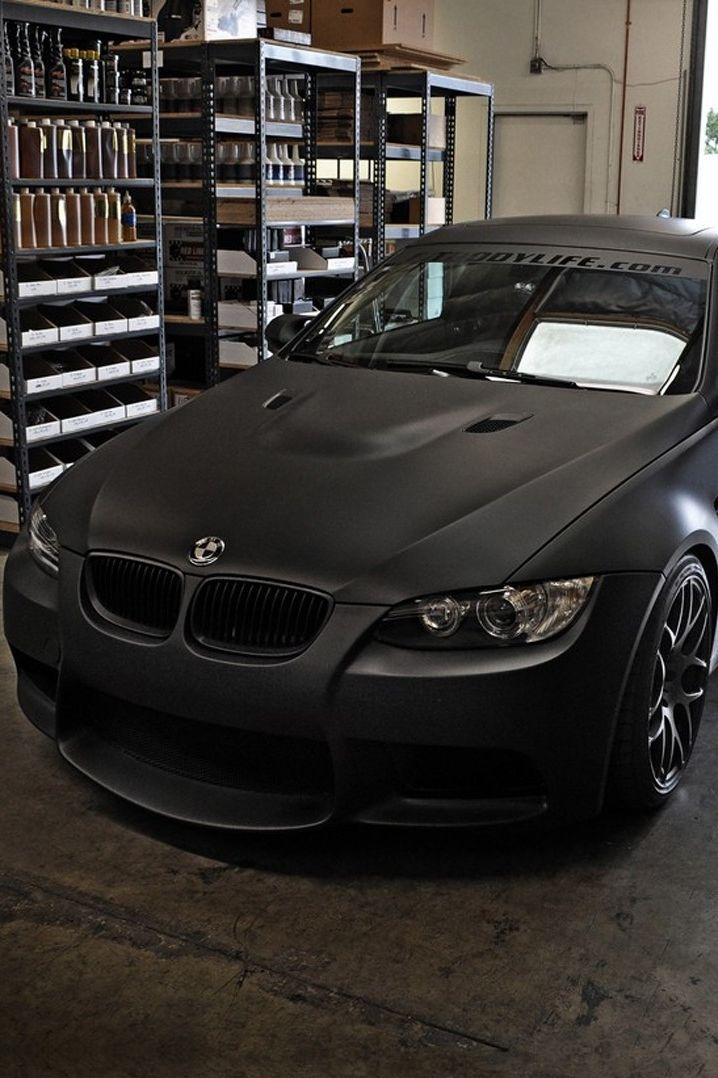 Matte black. M3 BMW.