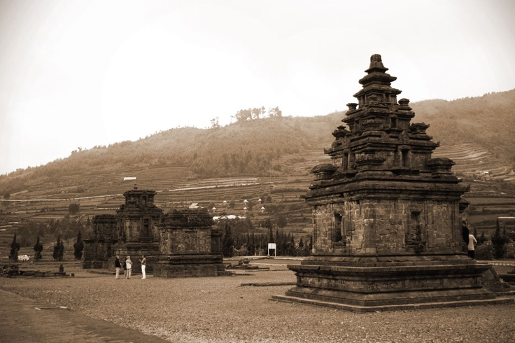 The collection of small ancient temples set in the remarkable volcanic landscape of the Dieng Plateau, truly give the place its monumental name, Dieng or Dihyang which literally translates as 'abode of the Gods'.