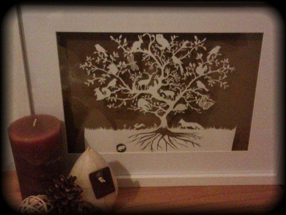 Cut your own Woodland Animal Tree Paper by ThePaperLighthouse