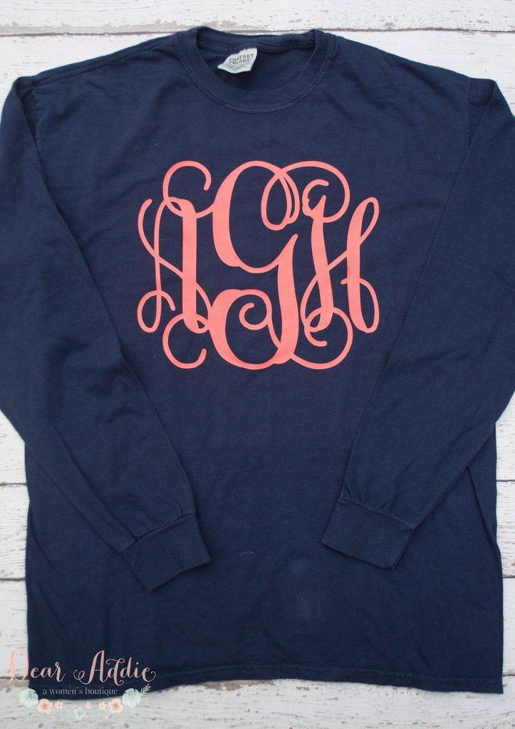 Pin By Nicole Faith On My Style Monogram Shirts