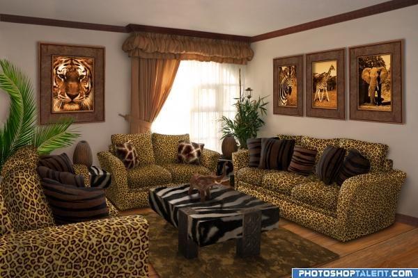Safari Living Room picture for: interior transform photoshop contest - Pxleyes.com