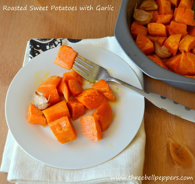 Roasted Sweet Potatoes with Garlic | Veggies and Side Dishes | Pinter ...