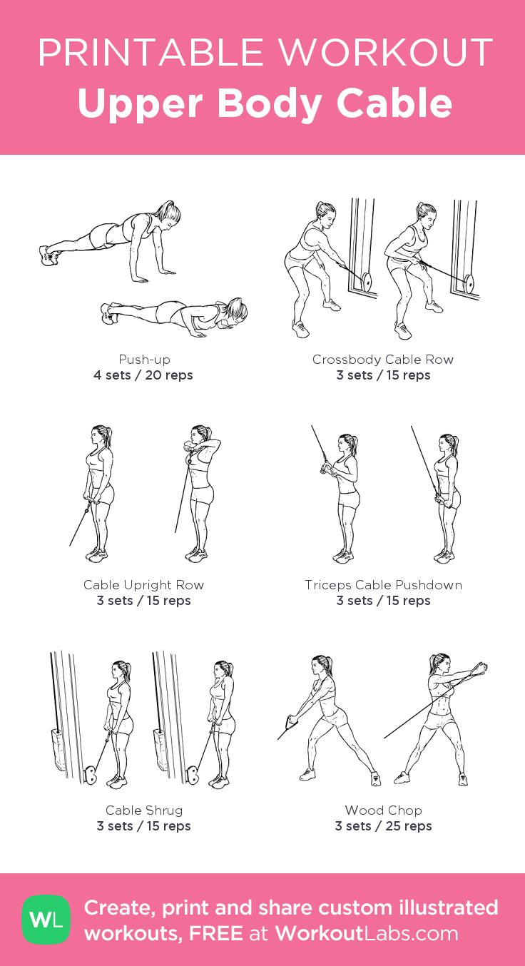 Upper Body Cable:my visual workout created at WorkoutLabs.com • Click through to customize and download as a FREE PDF! #customworkout