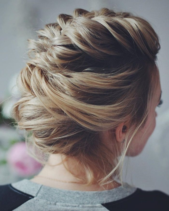 Wedding updos with braids Modern take on braids | itakeyou.co.uk #updos #weddingbraids #weddinghairstyle #bridalbraids #bridedupdos