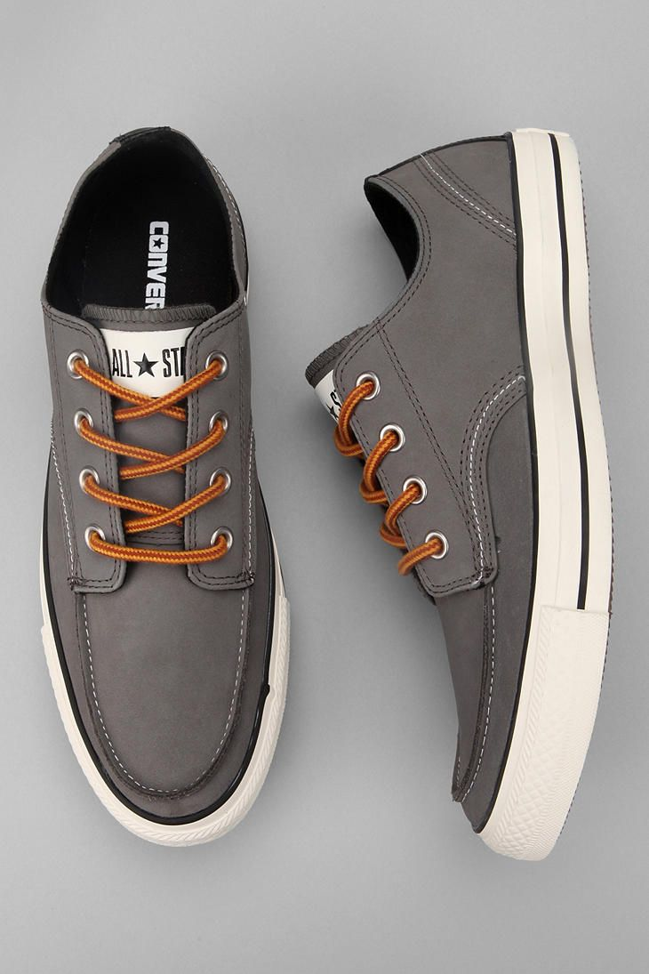 We love the shape of a chuck taylor with the upgraded laces and leather materials.    Great for a casual office or weekend wear!