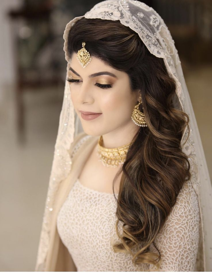 Engagement/ nikkah bride hair and make-up inspo