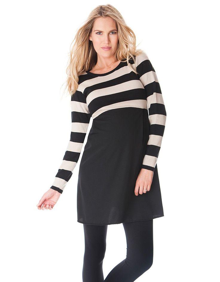 Seraphine Maternity Lynn Stripe Dress