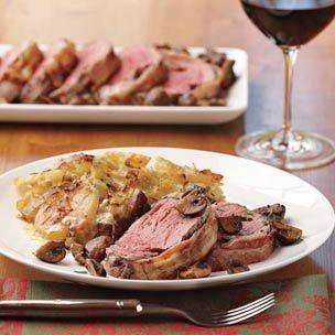 The flavor is amazing. My favorite potato side dish.  Potato-Leek Gratin | Williams-Sonoma  Xmas Eve Dinner