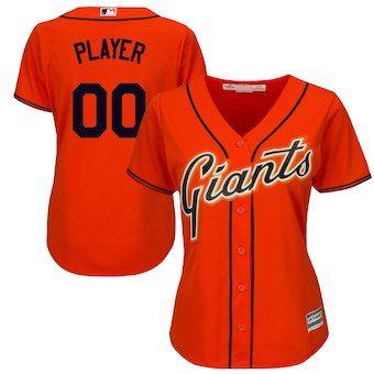 San Francisco Giants Majestic Women s Cool Base Alternate Jersey - Orange 61e3ea678