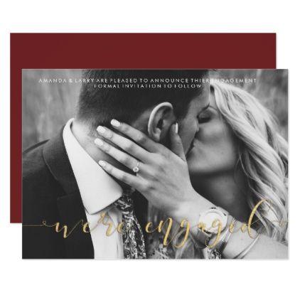 Fancy Wedding Photo Engagement Announcement - wedding invitations diy cyo special idea personalize card