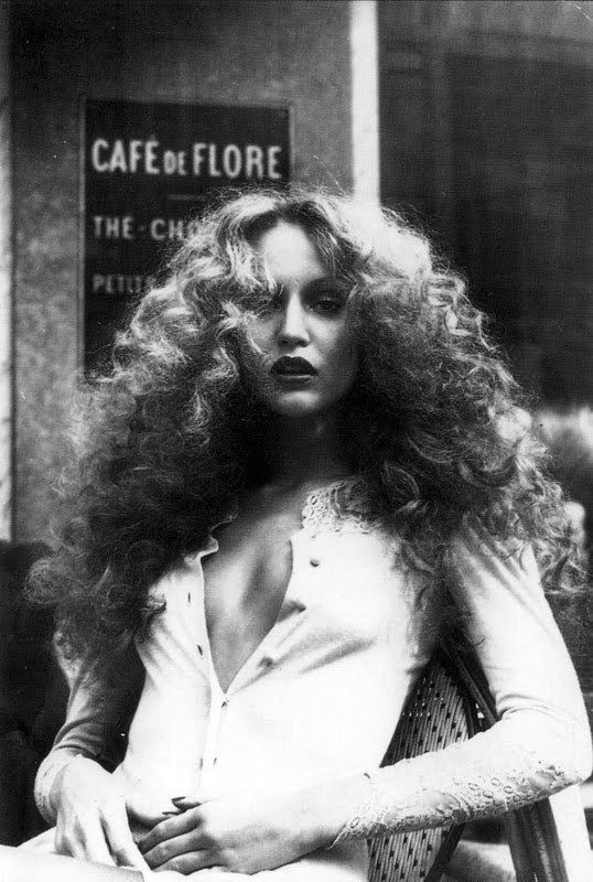Gerry Hall 1970s miss thing with massive diva hair. LOVE IT!