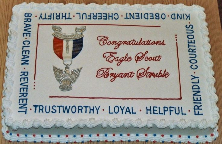 Eagle Scout Ceremony Cake made for boy in our local troop. 12x18 white cake. THANK YOU to LisaMS and MessiET for their help and...
