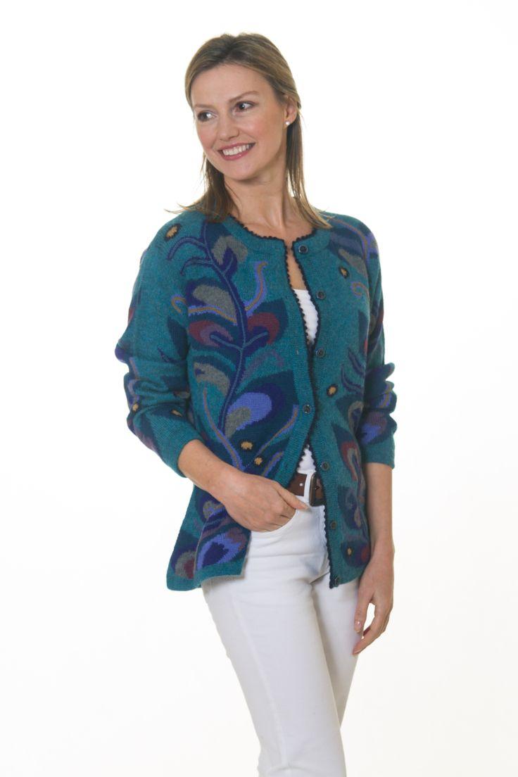 Intarsia Cardigans #Alpaca #Luxury #Knitwear