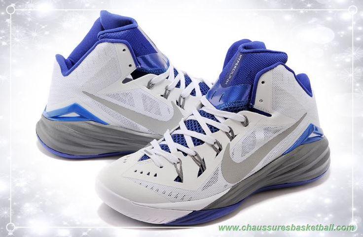 Hommes 653640-740 Blanc / Gray / Bleu Nike Hyperdunk 2014