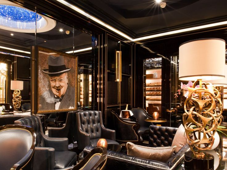 """The Wellesley Hotel in London is known for being a cigar lover's paradise—thanks largely to the hotel's one-of-a-kind """"cigar sommelier,"""" Giuseppe Ruo."""