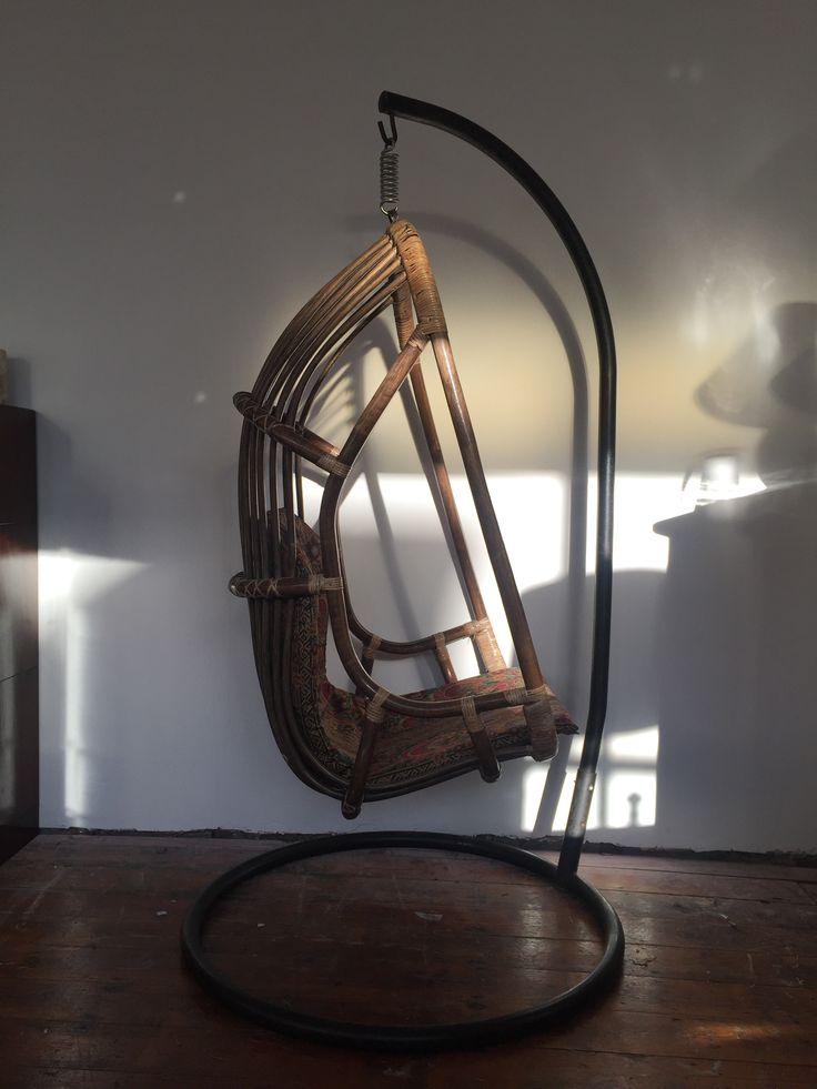 1970 s bamboo and whicker hanging egg chair one of our retro chairs available to buy