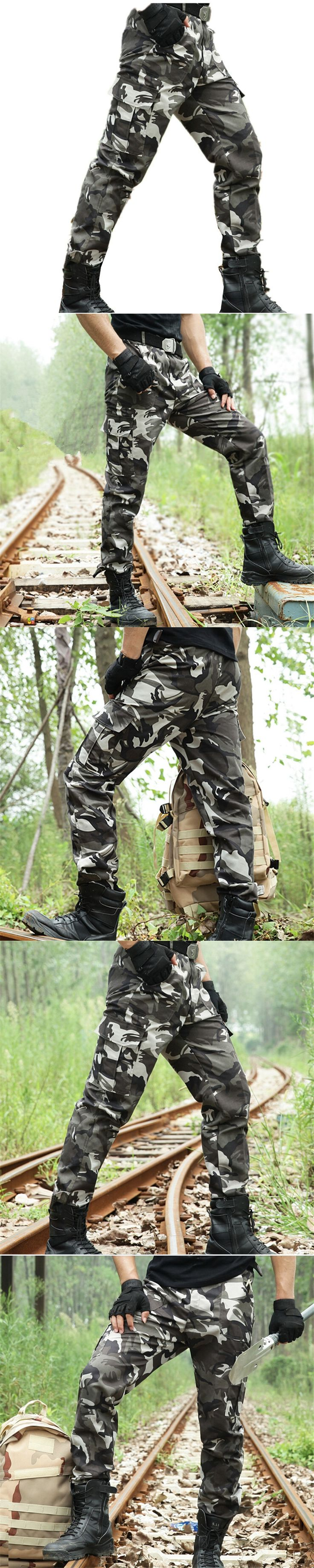 Army Camouflage Pants Tactical cargo Military Men's Combat Multi-Pockets Utility Casual Full Length Work Trousers & Sweatpants