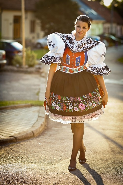 Folk costume of Kyjov, Southern Moravia, Czech Republic