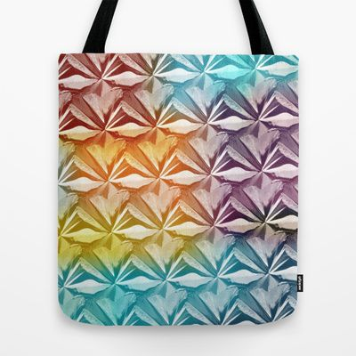 PYRAMID PATTERN Tote Bag by hardkitty - $22.00