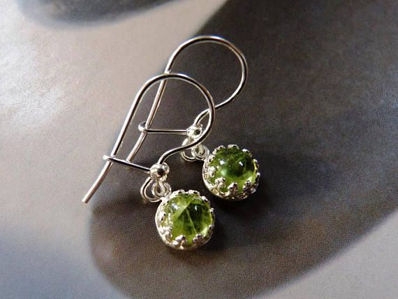 Peridot earrings, silver earrings, dangle earrings, affordable gift, gift for her, gift for mother, anniversary gift, birthday present