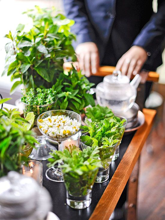 Cooking School: Blue Hill at Stone Barns Restaurant - Traditional Home  (Diners create after-dinner tisanes from a cart stocked with fresh herbs and leaves.)