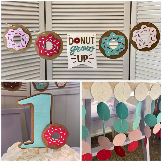 66b71c6a64ef0 Donut High Chair Party Pack Includes Cake Topper Donut | Tarts Paper ...