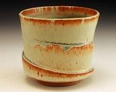 Verdegris Green Spiral Yunomi/Cup: Teabowl